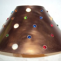 Large Mixed Jewels Lamp Shade