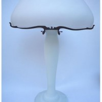 Large White Iris Lamp