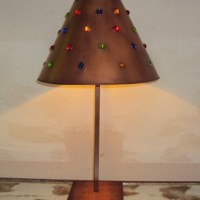 Mixed Jewels Conical Table Lamp