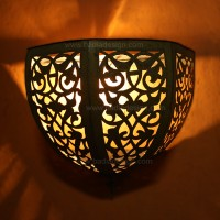 Moroccan Brass Wall Sconce WL011
