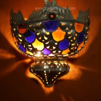 Multi Color Moroccan Sconce