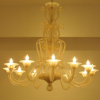 Murano Butterscotch Glass Chandelier
