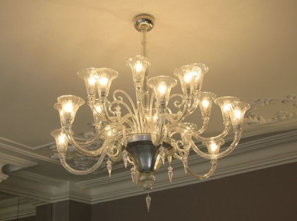 Murano Calla Lily Chandelier Cottage Industry