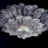 Murano Crystal Leaves Ceiling Light