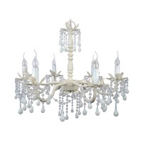 Opaque White Crystal Chandelier