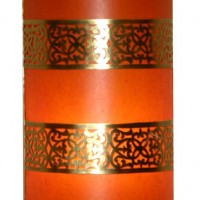 Orange Brass Filigree Sconce