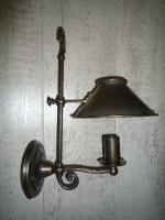 Patinated Brass Wall Lamp