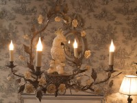 Pretty Bird Procelain Sconce