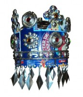 Recycled Tin Crown Lamp Shade