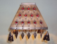 Red Jewels Pyramid Lamp Shade