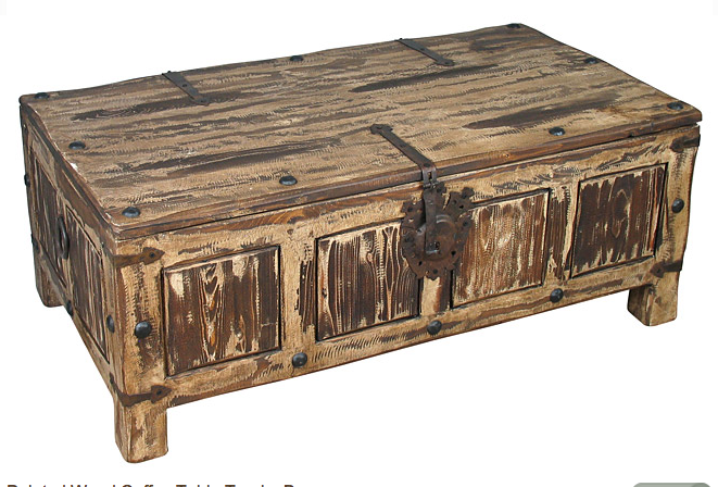 Rustic Coffee Table Trunk Cottage Industry