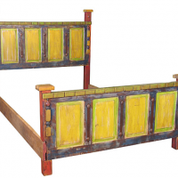 Rustic Painted Mexico Bed