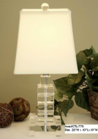 Small Crystal Cubes Table Lamp