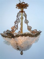 Snow Flowers Bronze Chandelier
