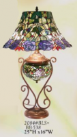 Stained Glass Tiffany Urn Lamp