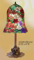 Tiffany Glass Rose Bell Lamp