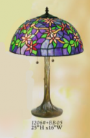 Tiffany Water Flowers Lamp