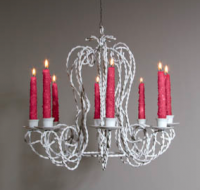 Twisted Candleholder Chandelier