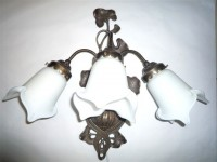 White Tulip Bunch Wall Light
