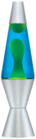 Yellow Wax Blue Liquid Lava Lamp